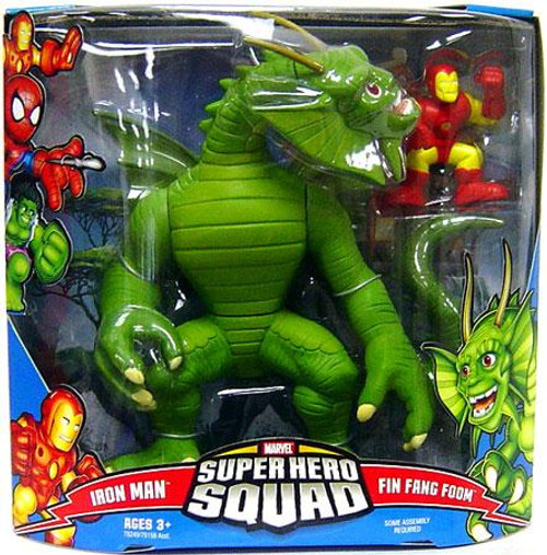 Marvel Super Hero Squad Series 3 Iron Man & Fin Fang Foom Mini Figure 2-Pack [Damaged Package]