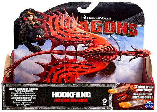 How to Train Your Dragon Dragons Action Dragon Hookfang Action Figure [Swing Wing Disk Fling!]
