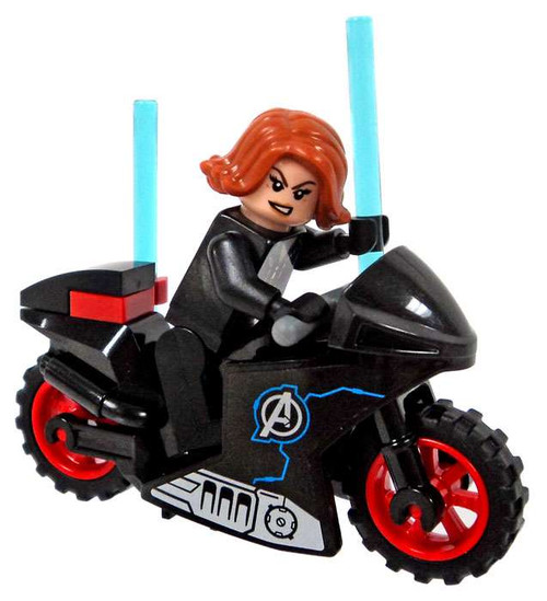LEGO Marvel Super Heroes Captain America: Civil War Black Widow with Motorcycle Minfigures [Loose]