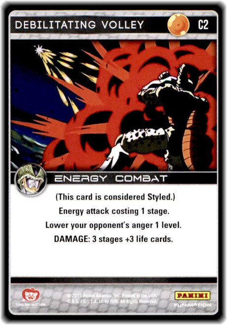 Dragon Ball Z CCG Perfection Common Debilitating Volley C2
