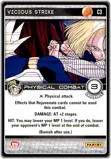 Dragon Ball Z CCG Perfection Common Vicious Strike C3
