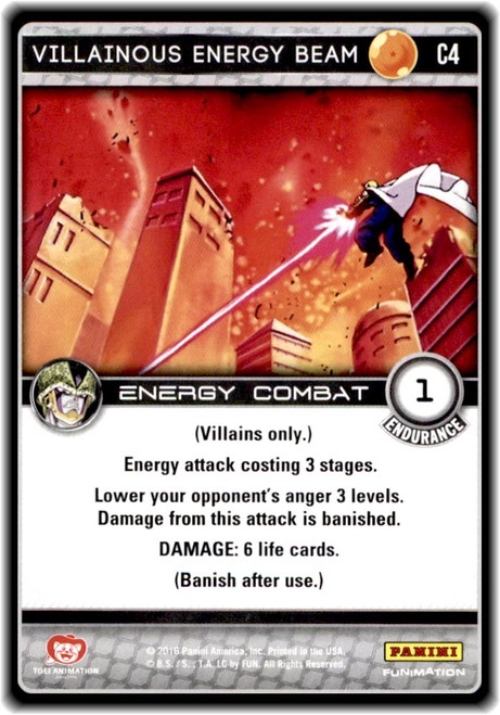 Dragon Ball Z CCG Perfection Common Villainous Energy Beam C4
