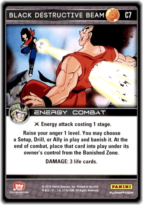 Dragon Ball Z CCG Perfection Common Black Destructive Beam C7