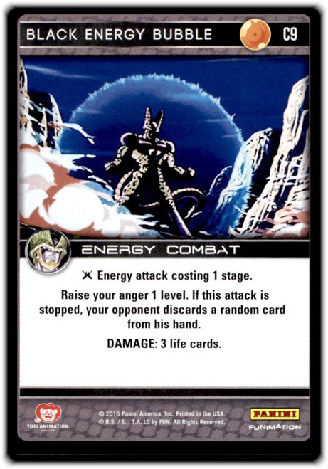 Dragon Ball Z CCG Perfection Common Black Energy Bubble C9