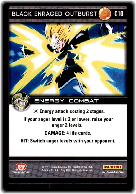 Dragon Ball Z CCG Perfection Common Black Enraged Outburst C10