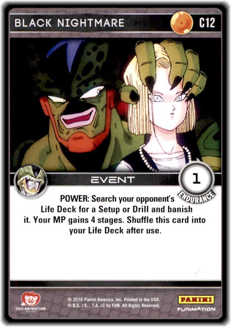Dragon Ball Z CCG Perfection Common Black Nightmare C12
