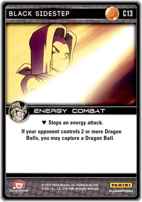 Dragon Ball Z CCG Perfection Common Black Sidestep C13