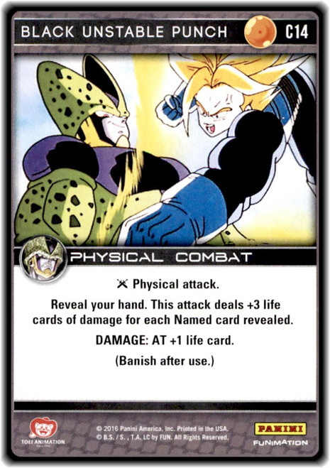 Dragon Ball Z CCG Perfection Common Black Unstable Punch C14