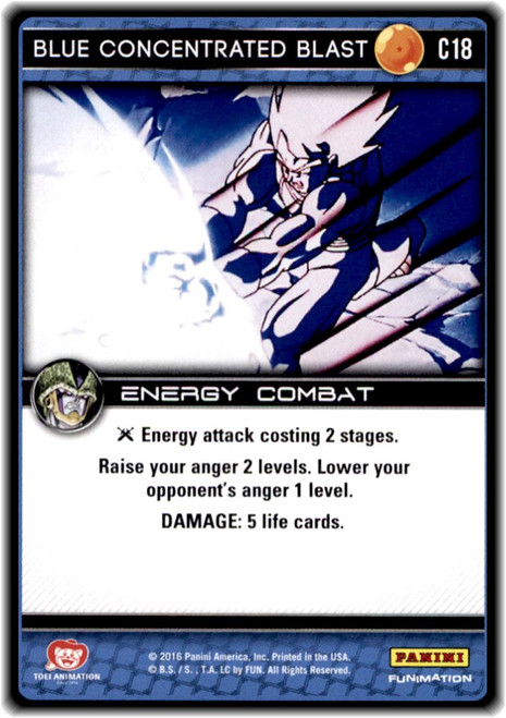 Dragon Ball Z CCG Perfection Common Blue Concentrated Blast C18