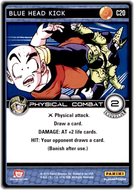 Dragon Ball Z CCG Perfection Common Blue Head Kick C20