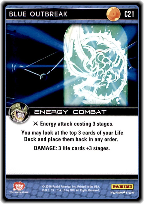 Dragon Ball Z CCG Perfection Common Blue Outbreak C21
