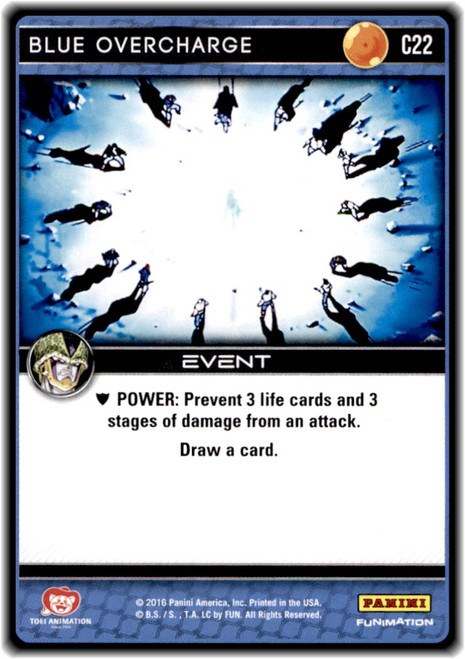 Dragon Ball Z CCG Perfection Common Blue Overcharge C22