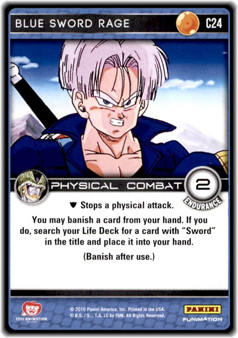 Dragon Ball Z CCG Perfection Common Blue Sword Rage C24