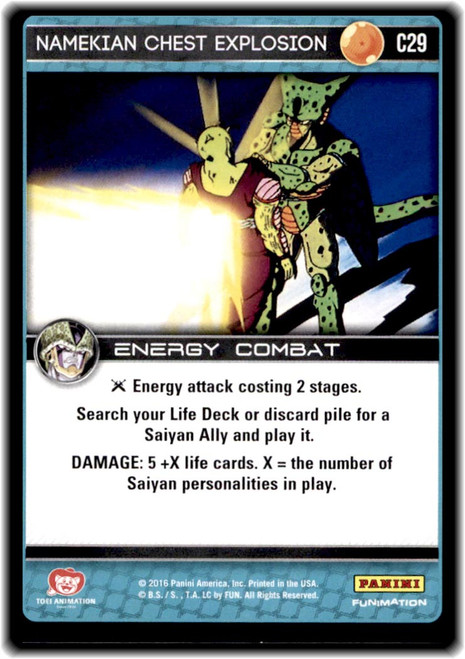 Dragon Ball Z CCG Perfection Common Namekian Chest Explosion C29