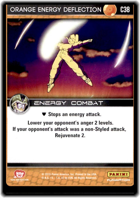 Dragon Ball Z CCG Perfection Common Orange Energy Deflection C38