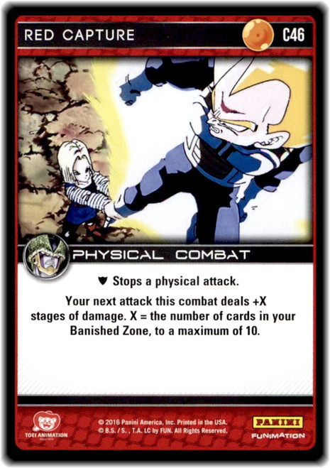 Dragon Ball Z CCG Perfection Common Red Capture C46