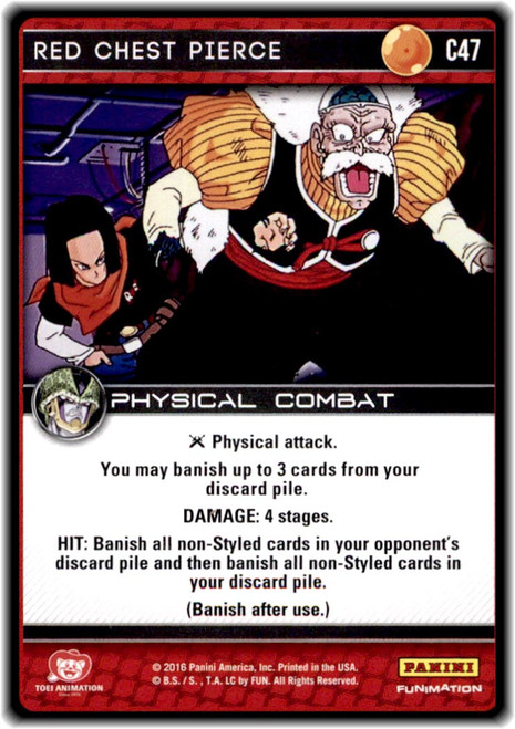 Dragon Ball Z CCG Perfection Common Red Chest Pierce C47