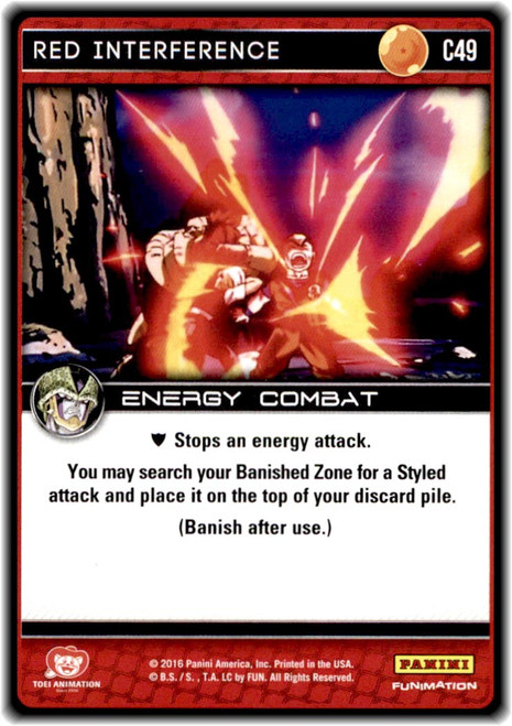 Dragon Ball Z CCG Perfection Common Red Interference C49