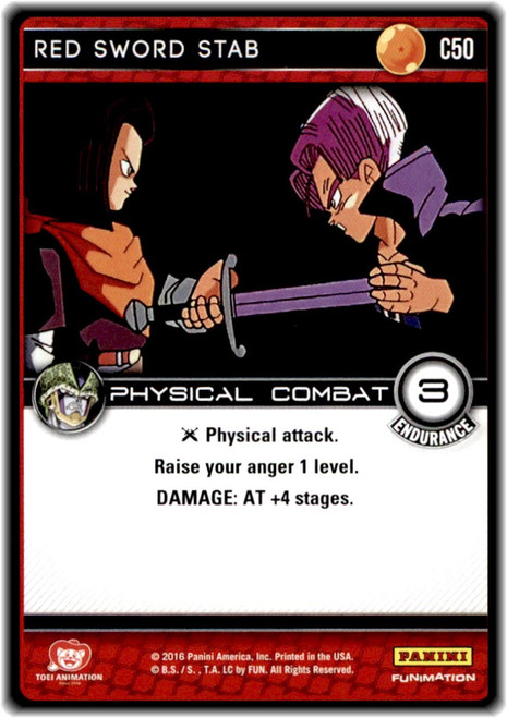 Dragon Ball Z CCG Perfection Common Red Sword Stab C50