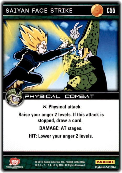 Dragon Ball Z CCG Perfection Common Saiyan Face Strike C55