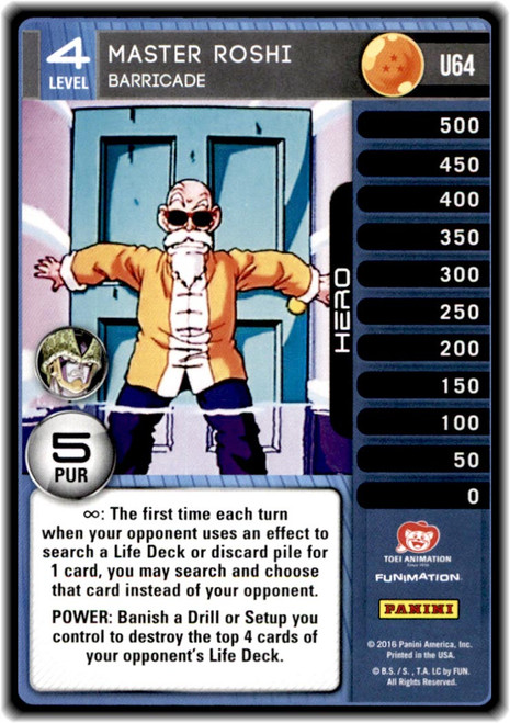 Dragon Ball Z CCG Perfection Uncommon Master Roshi - Barricade (level 4 U64