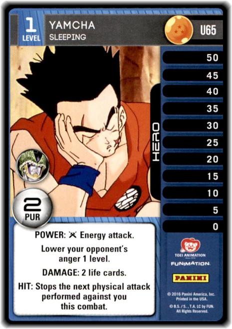 Dragon Ball Z Perfection Uncommon Yamcha - Sleeping (level 1 U65