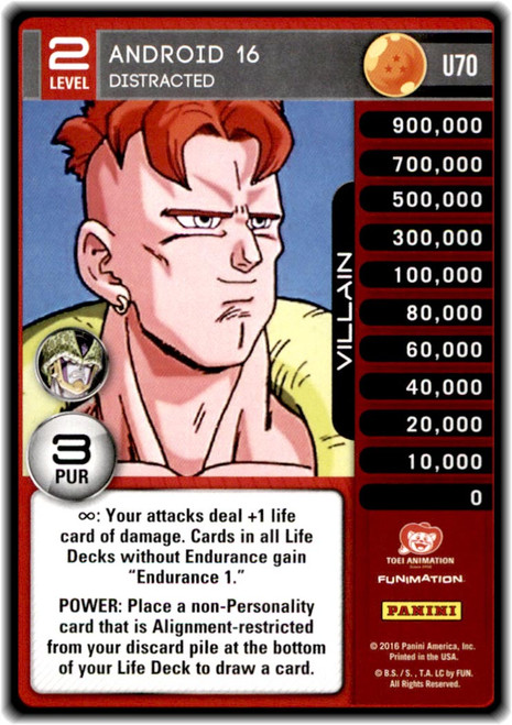 Dragon Ball Z Perfection Uncommon Android 16 - Distracted (level 2 U70