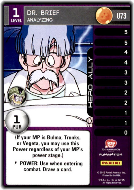 Dragon Ball Z CCG Perfection Uncommon Dr. Brief - Analyzing (level 1 U73