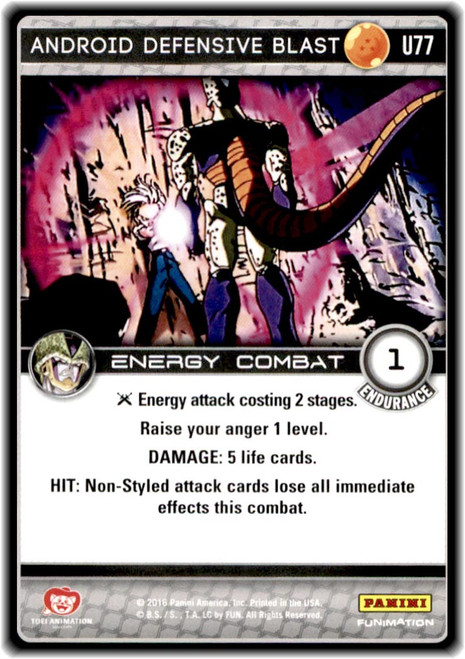 Dragon Ball Z CCG Perfection Uncommon Android Defensive Blast U77