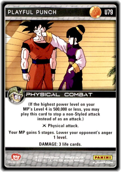 Dragon Ball Z CCG Perfection Uncommon Playful Punch U79