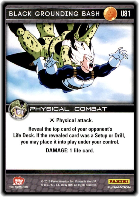 Dragon Ball Z CCG Perfection Uncommon Black Grounding Bash U81
