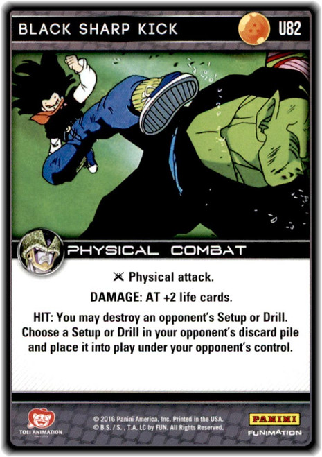 Dragon Ball Z CCG Perfection Uncommon Black Sharp Kick U82