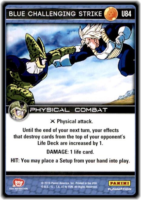 Dragon Ball Z Perfection Uncommon Blue Challenging Strike U84