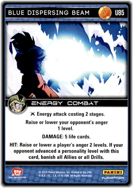 Dragon Ball Z Perfection Uncommon Blue Dispersing Beam U85