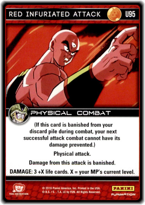 Dragon Ball Z CCG Perfection Uncommon Red Infuriated Attack U95
