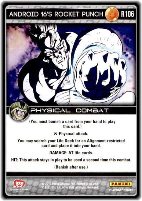 Dragon Ball Z CCG Perfection Rare Android 16's Rocket Punch R106