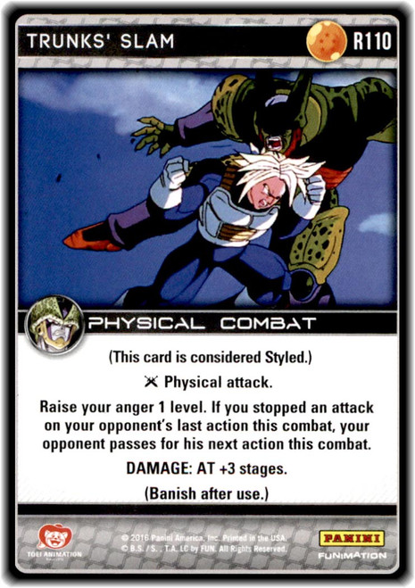 Dragon Ball Z CCG Perfection Rare Trunks' Slam R110