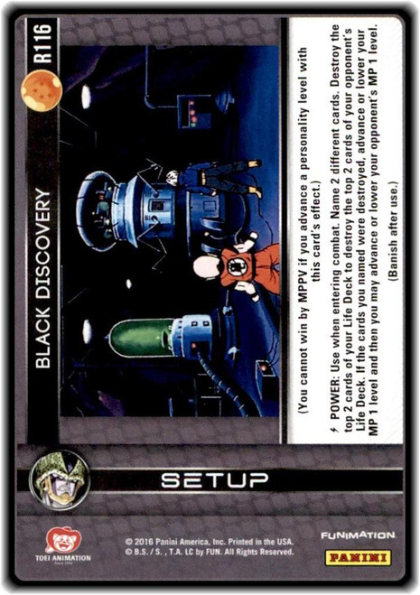 Dragon Ball Z CCG Perfection Rare Black Discovery R116