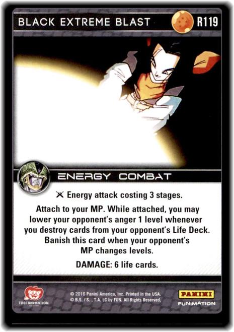 Dragon Ball Z Perfection Rare Black Extreme Blast R119