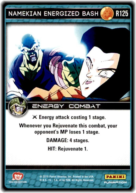 Dragon Ball Z Perfection Rare Namekian Energized Bash R125