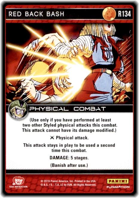 Dragon Ball Z CCG Perfection Rare Red Back Bash R134