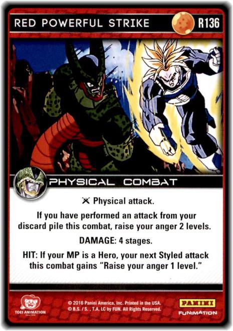 Dragon Ball Z CCG Perfection Rare Red Powerful Strike R136