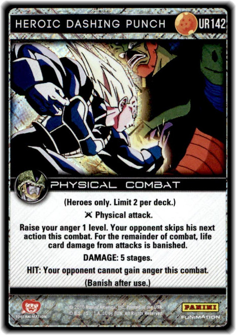 Dragon Ball Z CCG Perfection Ultra Rare Heroic Dashing Punch UR142