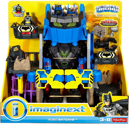 Fisher Price DC Super Friends Imaginext Robo Batcave Exclusive Figure Set