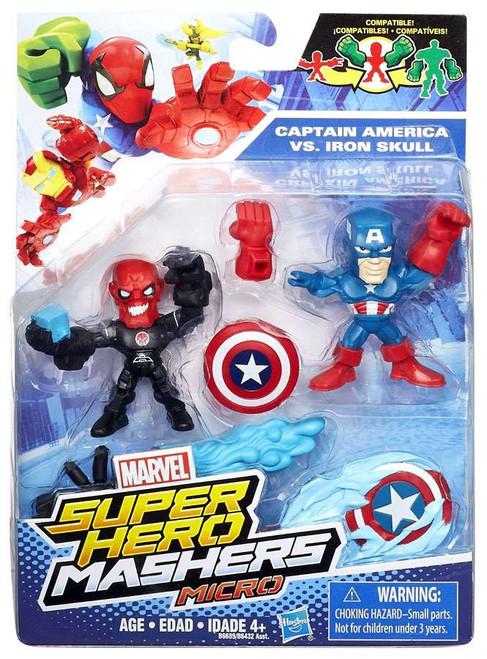 Marvel Super Hero Mashers Micro Red Skull & Captain America Action Figure 2-Pack