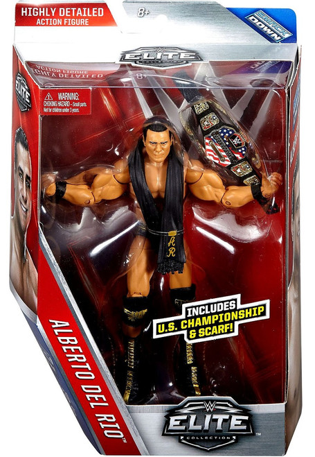 WWE Wrestling Elite Collection Series 43 Alberto Del Rio Action Figure [US Championship & Scarf]