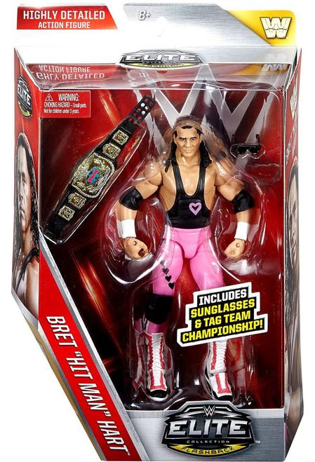 WWE Wrestling Elite Collection Series 43 Bret Hart (Hart Foundation) Action Figure [Sunglasses & Tag Team Championship]