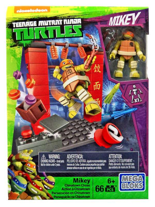 Mega Bloks Teenage Mutant Ninja Turtles Half Shell Heroes Mikey Chinatown Chase Set #32717