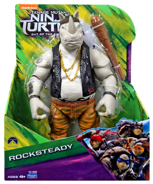 Teenage Mutant Ninja Turtles Out of the Shadows Rocksteady Action Figure [11 Inch]