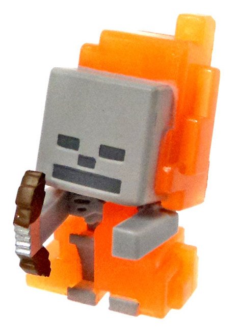 Minecraft Ice Series 5 Skeleton in Flames Mini Figure [Loose]